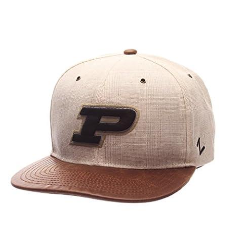 NCAA Purdue Boilermakers Adult Men's Havana Snapback Hat, Adjustable Size,