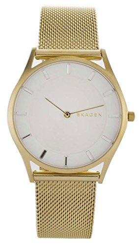 skagen-reloj-de-cuarzo-para-mujer-con-blanco-esfera-analgica-pantalla-y-oro-pulsera-de-acero-inoxida