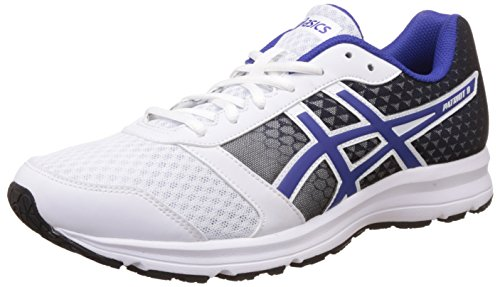 Asics Men's Patriot 8 White, Asics Blue and Black Running Shoes - 10 UK/India (45 EU)(11 US)  available at amazon for Rs.2820