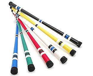 Devil stick estándar (palos de incluido) malabares Negro negro