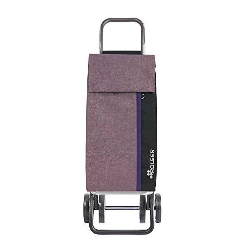 Rolser Einkaufstrolley Kangaroo KAN002/VT Tweed DOS+2 Farbe Violett, 390 x 310 x 1050 mm