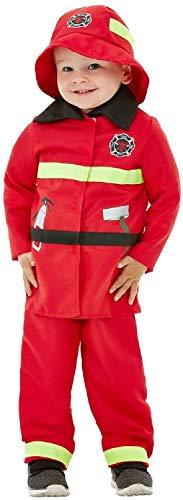 Fancy Me Kostüm für Jungen und Mädchen, Feuerwehrmann, Uniform, Job, Weltbuch, Woche, Rot (Für Mädchen Feuerwehrmann-kostüm)