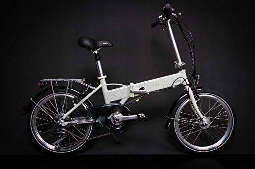 "20"" Zoll Alu VAUN EGON E Bike Elektro Klapp Falt Fahrrad Pedelec Shimano 6 Gang Grau"