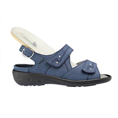 Waldläufer , Sandales pour femme Bleu