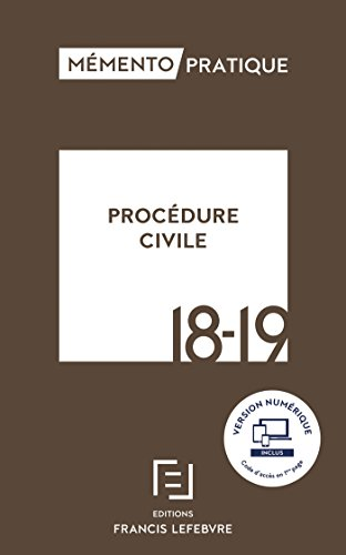 MEMENTO PROCEDURE CIVILE 2018 2019