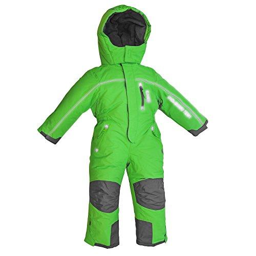 Outburst Schneeoverall Overall Kinder Skianzug Winddicht wasserfest Farb- und Größenwahl (98, grün)