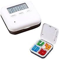 Aolvo Pillendose Klein Mini Pillendose Pillen Pillenbox Tablettenbox mit Wecker Alarmfunktion 4 Fächer Aufbewahrung... preisvergleich bei billige-tabletten.eu