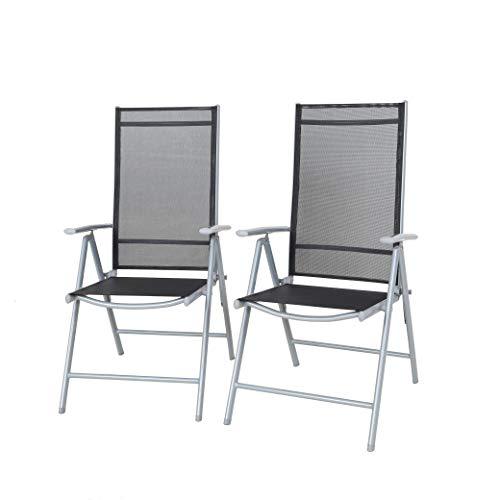 Strandgut Gartensessel, Silber/schwarz