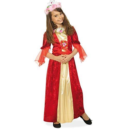 KarnevalsTeufel Kinder-Kostüm Rosenkönigin, Königin, Queen, Prinzessinnen-Kleid, Karneval Fasching -