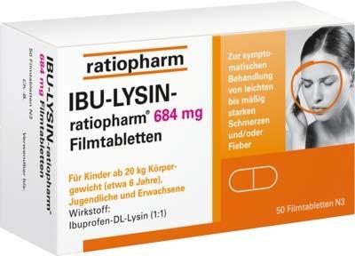 IBU-LYSIN-ratiopharm 684m 50 stk