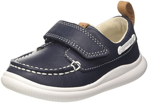Clarks Cloud Snap Mocassini Bambino, Blu (Navy Leather) 21 EU