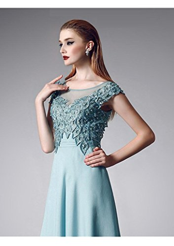Beauty-Emily -  Vestito  - linea ad a - Maniche corte  - Donna Verde
