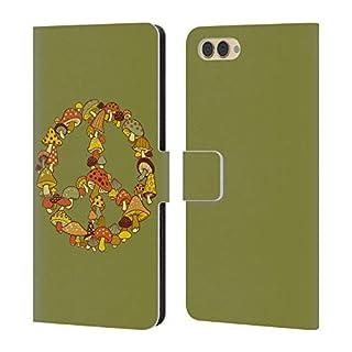 Head Case Designs Offizielle Steven Rhodes Pilz Psychedelisch Brieftasche Handyhülle aus Leder für Huawei Honor View 10 / V10