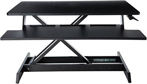 AmazonBasics - Höhenverstellbarer Aufsatz inkl. Tastaturablage für den Schreibtisch, zum Arbeiten...
