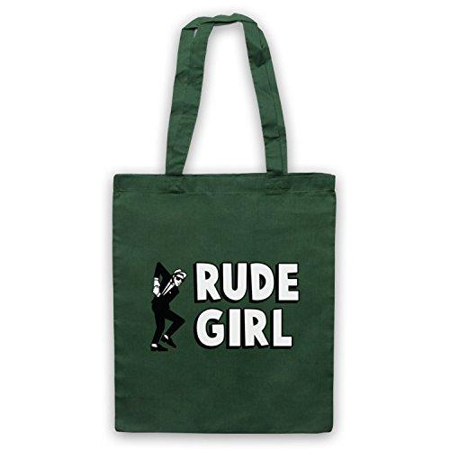 Rude Girl Jamaican Street Culture Slogan Umhangetaschen Dunkelgrun