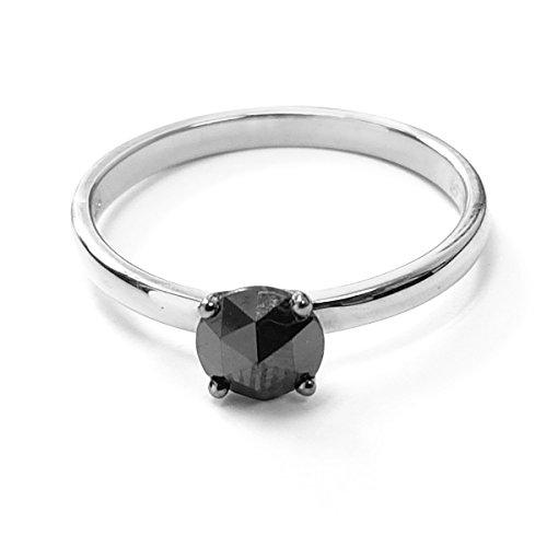 BuyFineDiamonds - Gold 18 Karat (750) 14 Karat (585) Weißgold Brilliant Rund Black Diamant