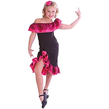 390857ae1 XL) Girls Spanish Senorita Costume for Spain Mexico Fancy Dress Kids ...