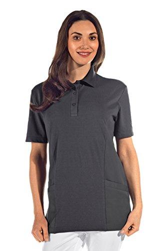 clinicfashion 12812013 Polo-Schlupfhemd grau für Damen, Mischgewebe, Größe XXL