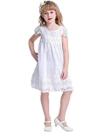 baa3906e5 Bowdream Vestido de Encaje Vintage para niña