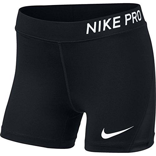 Nike Mädchen Pro-Shorts, Black/White, S