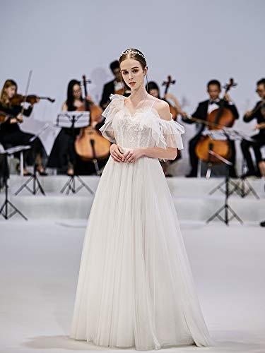 WJZ Weiße Hosenträger Hochzeitskleid Braut Sen System Rückenfreie Hochzeitskleid Weibliche Super...