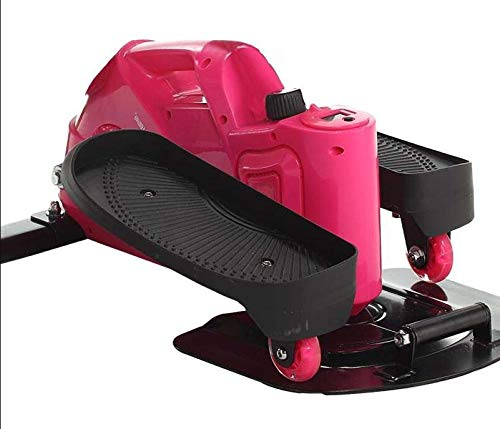 411a6KiEvUL - Lcyy-step Stepper Trainers Home Mini Walking Stepping Machine with Adjustable Resistance and LCD Display Pink