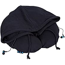 KooKen Aerato Cuscino da viaggio con il cappello auricolare Bluetooth per la tua musica e le chiamate - Nero