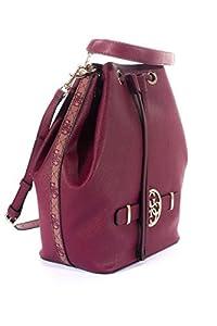 Guess - Bolso para mujer, color burdeos combinado con logo