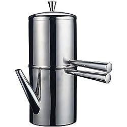 Ilsa Cafetière napolitaine en acier inoxydable 9 tasses