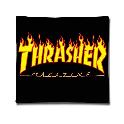 "Akhy Thrasher Magazine Skateboarding Cotton Sateen Pillow Case Cushion Cover (18""x 18"")"