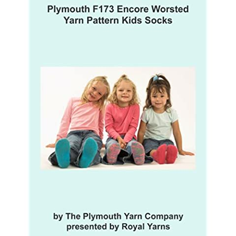 Plymouth F173 Encore Worsted Yarn Pattern Kids Socks (I Want To Knit) (English Edition)