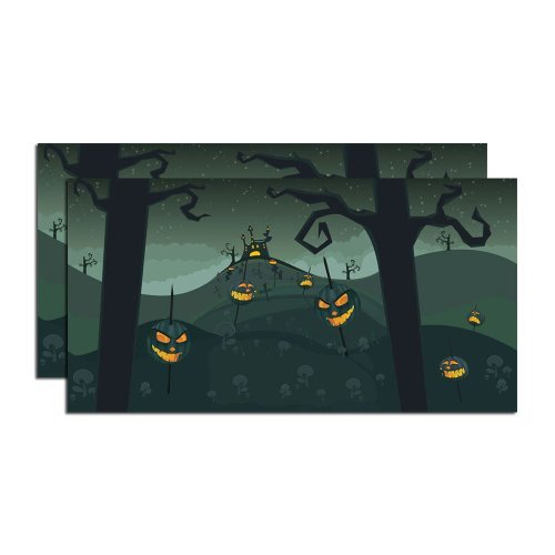 Department 56 4025413 Halloween Accessories for Dept 56 Village Collections Halloween Backdrop, Set of 2 Village Accessory, 20-Inch by Department 56