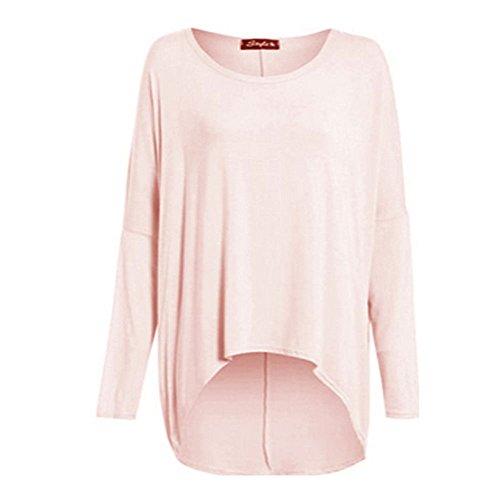 Jersey ancho de manga larga para mujer rosa Nude Pink
