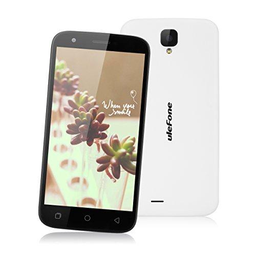 "Ulefone U007 Pro - 4G Smartphone Libre Android 6.0 (Pantalla HD 5.0"", 1.0GHz MT6735 Quad Core, 1GB RAM 8GB ROM, 8.0MP Cámara, GPS, WIFI, Bluetooth, Dual SIM) (Blanco)"