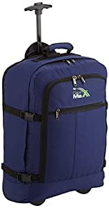 Cabin Max Lyon Flight Approved Bag Wheeled Hand Luggage - Carry on Trolley Backpack 44L 55x40x20cm (Navy)