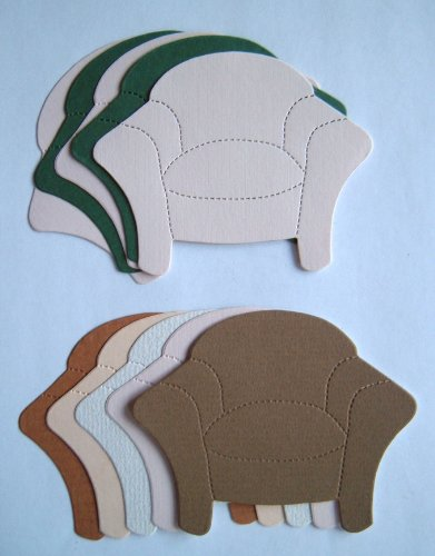 Pack of 10 Large Die Cut Chairs (Mixed Colours)