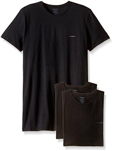 Diesel Herren Umtee-jakethreepack Unterhemd, Schwarz (Black), Medium (erPack 3 - Diesel Jake