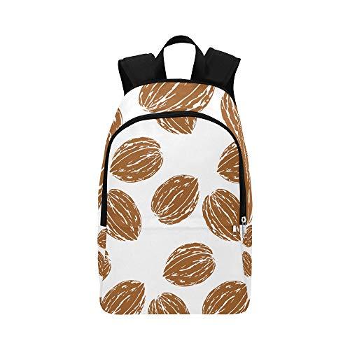 Ganzer und abgezogener Walnuss-beiläufiger Daypack-Reisetasche College School Rucksack für Männer und Frauen (Gesundheit Männer Nüsse)