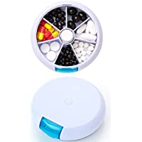 FaSoLa Portable 7-Tage-Pillendose für den Fall einer wöchentlichen runden Pillbox für Reise-Medikamentenhalter preisvergleich bei billige-tabletten.eu