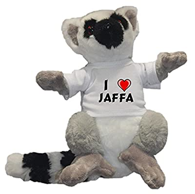 Shopzeus Plush ring-tailed lemur toy with I love Jaffa T-Shirt (first name/surname/nickname)