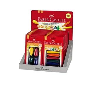 Faber Castell 201122 – Expositor de 16 blister de ceras plásticas, multicolor