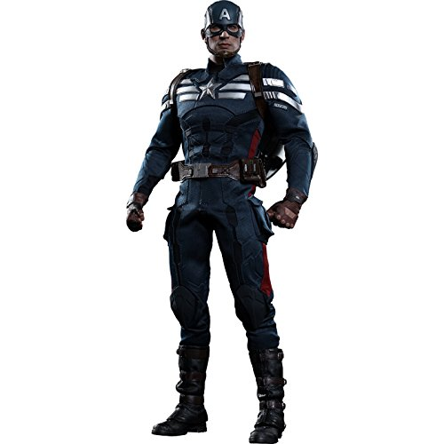 Captain Evans Kostüm Chris America - Hot Toys Movie Master Piece - Captain America The Winter Soldier: Captain America