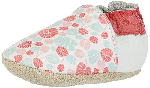 Rose & Chocolat Maui Leaf Print, Chaussons Pour Enfant Bébé Fille - Multicolore - Mehrfarbig (Pink), 20/21