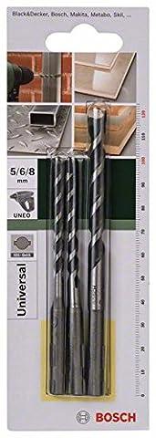 Foret Perforateur - Bosch 2609256918 Set de 3 forets polyvalents