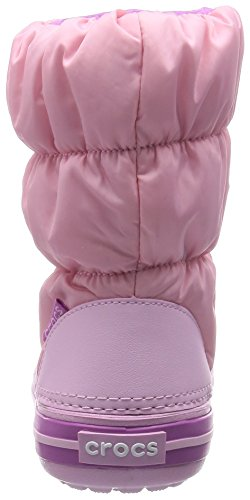 Crocs Winterpuff, Bottes Classiques Cheville Mixte Enfant Rose (Ballerina Pink/Wild Orchid)