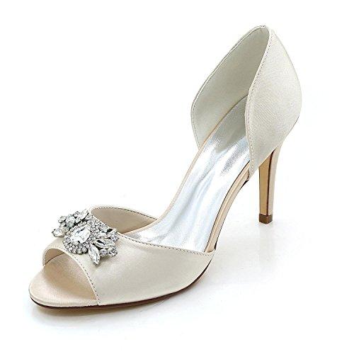 L@YC Scarpe Da Donna Scarpe Da Sposa Confortevoli Scarpe Da Ginnastica alti a Punta Di Spettacolo E Multicolore Champagne