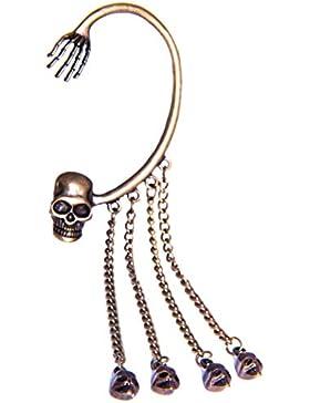 Ohrringe Ohrhänger Ohrklemme Ear Cuff Ohrhänger Totenkopf Halloween