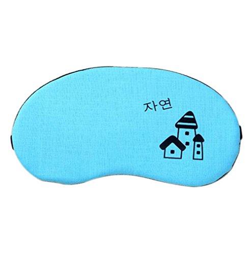 Lumanuby 1 Stück Schlafmaske mit Cooling Pad for Kinder und Frauen, Cotton Material, Größe: 28*10.5cm, Notwendige Augenmaske für gute Schlafen, Zufällige Farbe