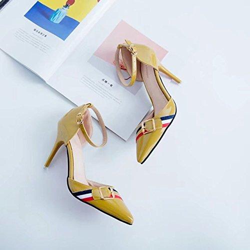 RUGAI-UE Moda Estate sandali tacchi Calzature Donna Yellow