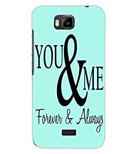 ColourCraft Quote Design Back Case Cover for HUAWEI HONOR BEE